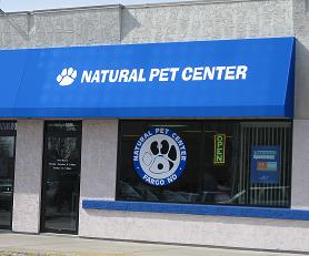 Natural pet Center in Fargo sells raw dog food, grain free dog food and natural dog food
